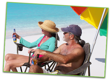 Photo of vacationers on a Cast-A-Way Getaway Trip on the Great Exuma Islands, Bahamas